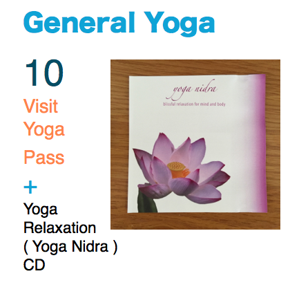 General Yoga 10 Visit Pass And Relaxation Nidra CD